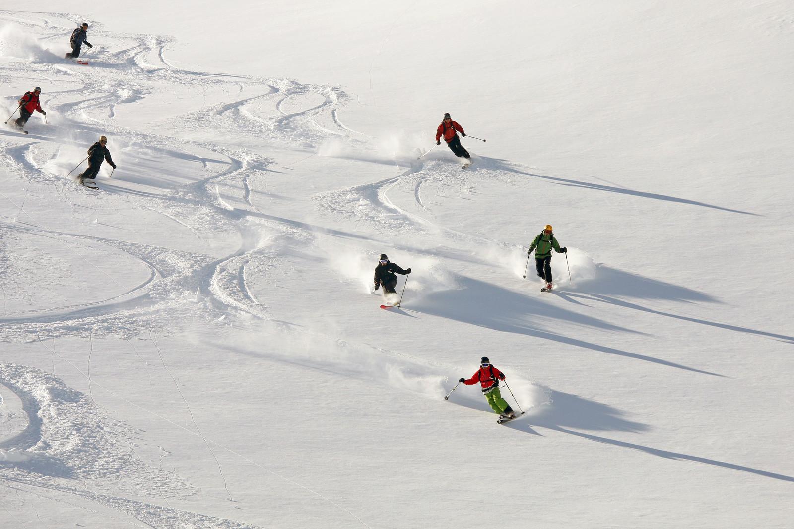Idyllic skiing